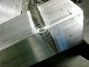 TIG Welding aluminum square tubing