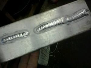 TIG welding aluminum with filler rod ER-5356