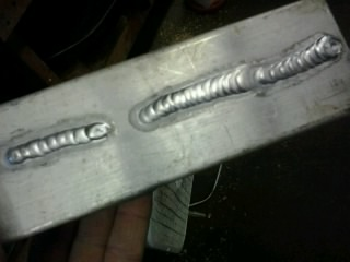 TIG welding aluminum with filler rod ER-5356
