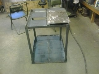 Welding and assembling MIG welding cart