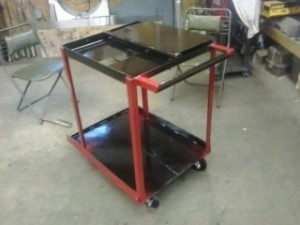 I recently finished my MIG welding cart.