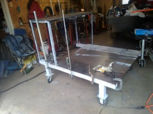 Building welding bench on wheels, for the shop.