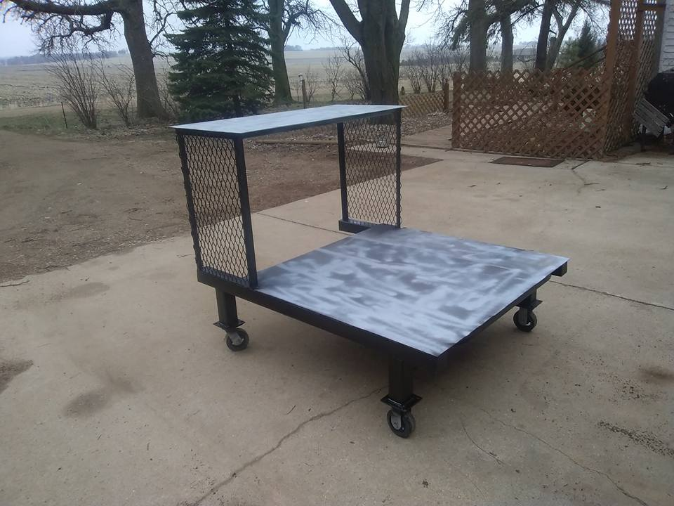 Welding cart for the shop