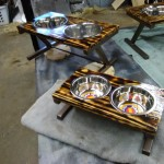 Custom sizes dog dish stand