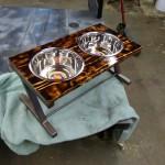Custom dog dish tray