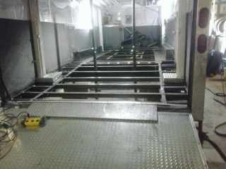 New floor supports are all welded in and ready to go for the flooring to be installed.