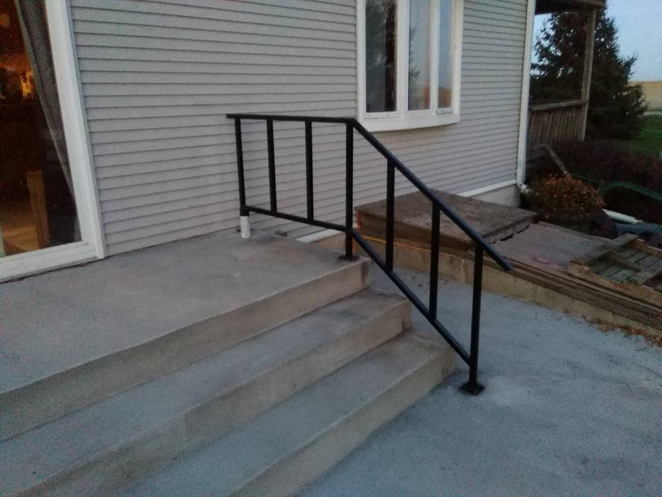 I finished fabricating and installing hand rails for another local home near Beresford.