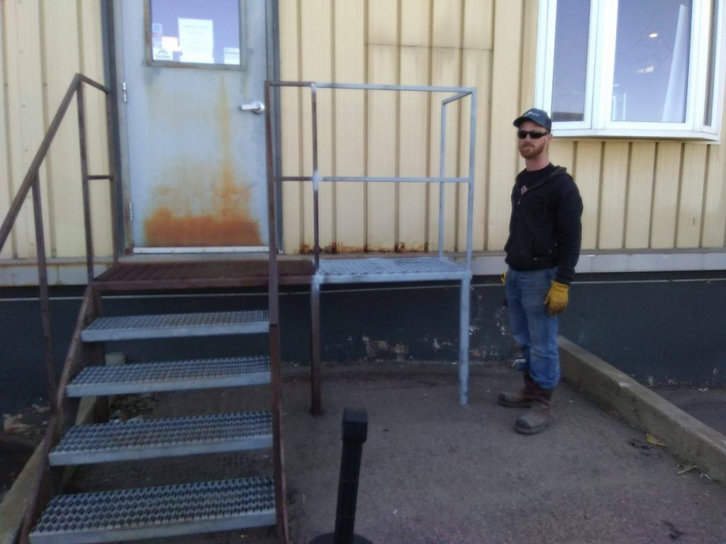 Worked with friend Josh on a job: Staircase addition for a local manufacturing company, Sioux Falls SD.