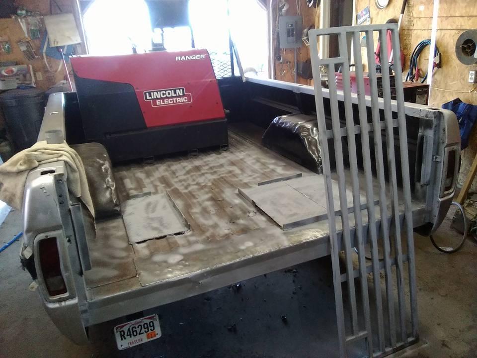 Finishing up mobile welding wagon